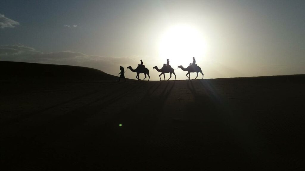 Velbloudí karavana Merzouga