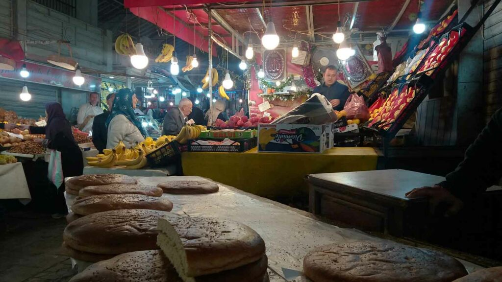 trh v Konstantinu, tržiště v Alžírsku