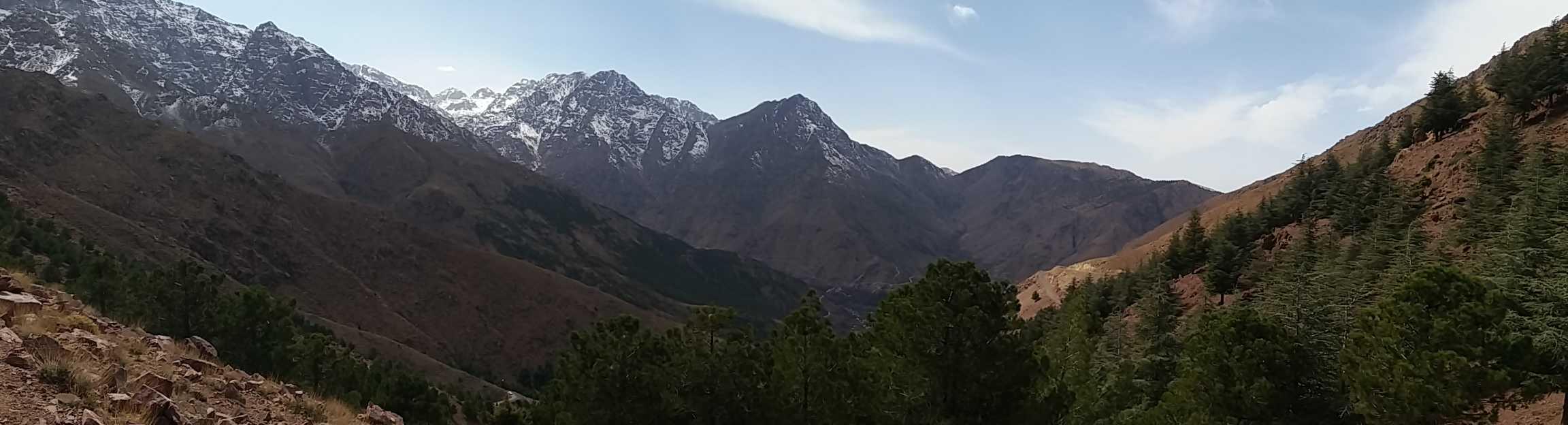 údolí Imlil v Maroku