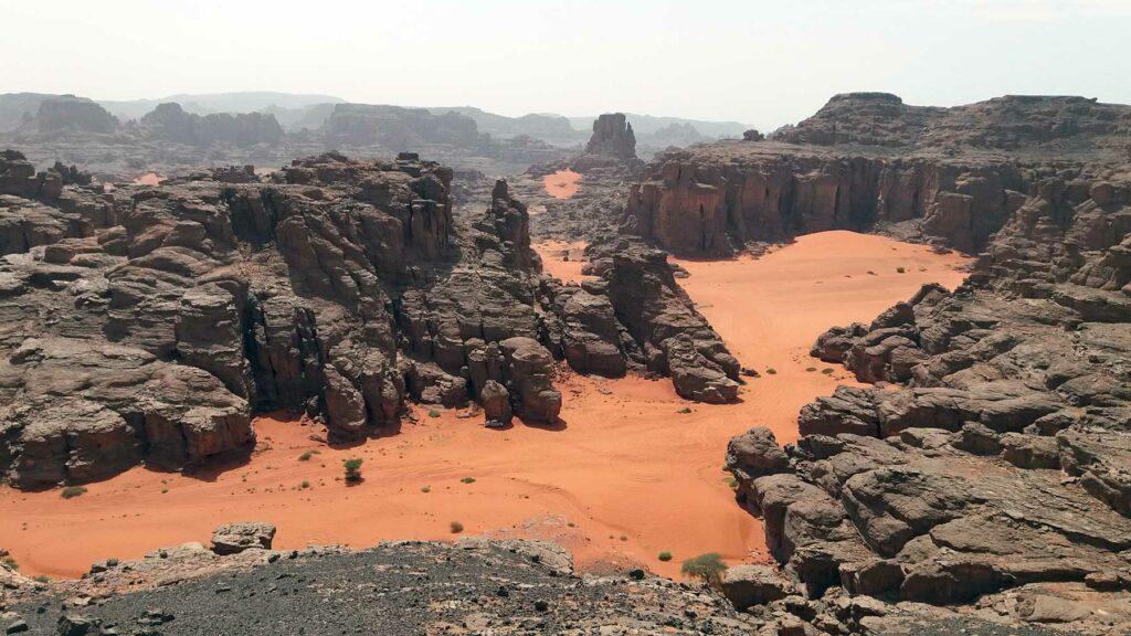 Červený písek na Sahaře