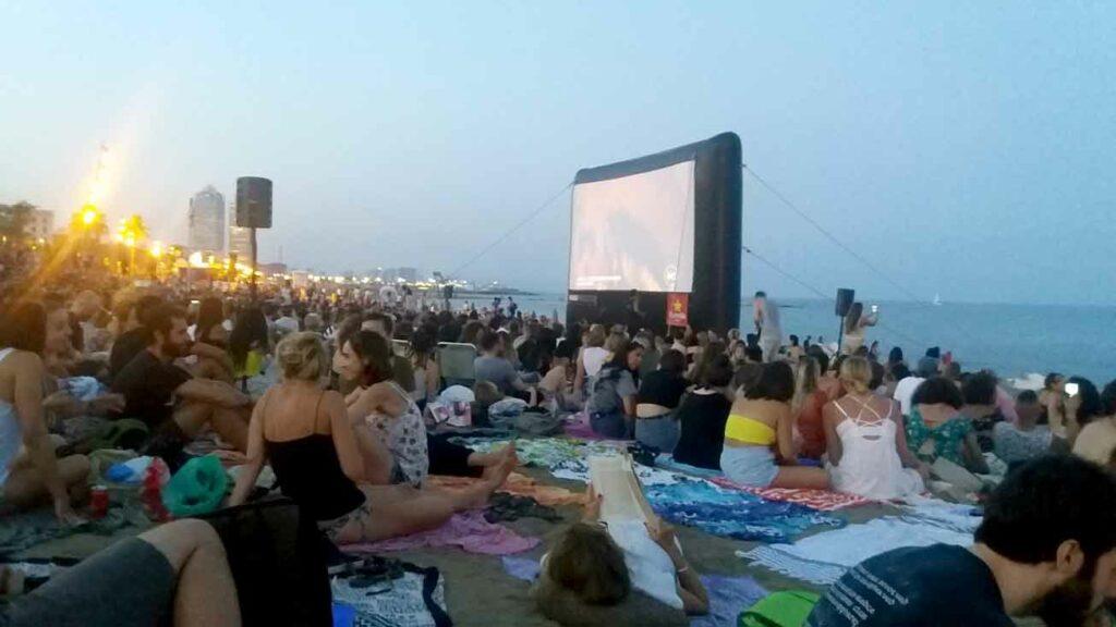 kino na pláži - Barceloneta