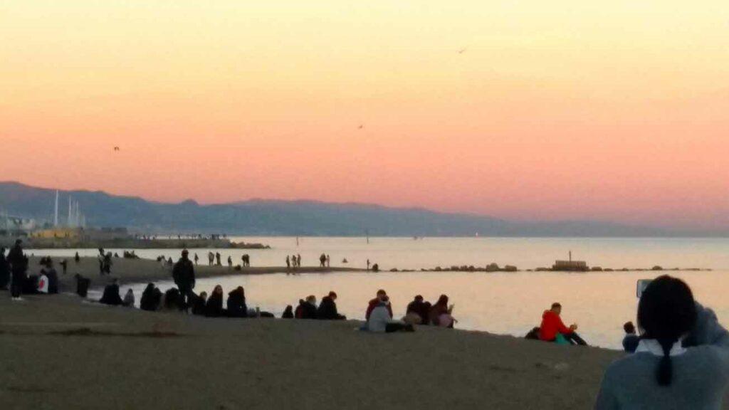 západ slunce - Barcelona
