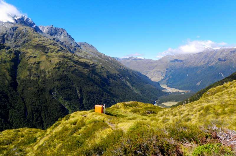 Výhled u Liverpool Hut - Jižní ostrov - Cestování po Novém Zélandu