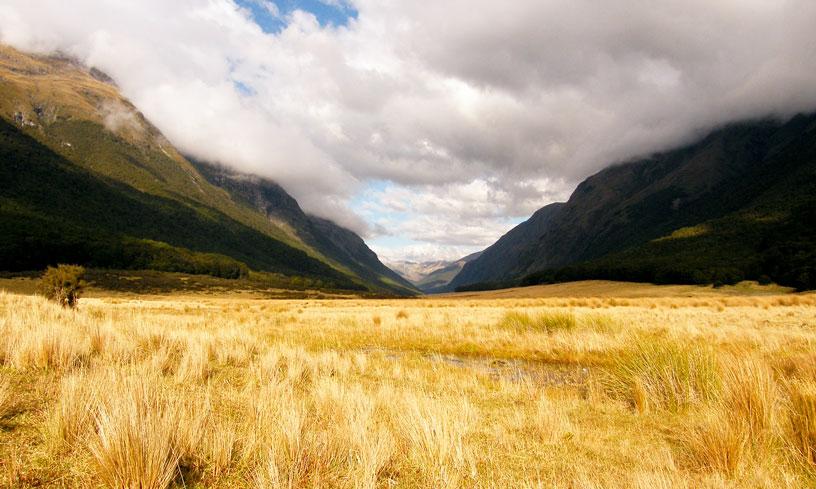 Matukituki valley - občas neznačené trasy - cestování po Novém Zélandu Jižní ostrov