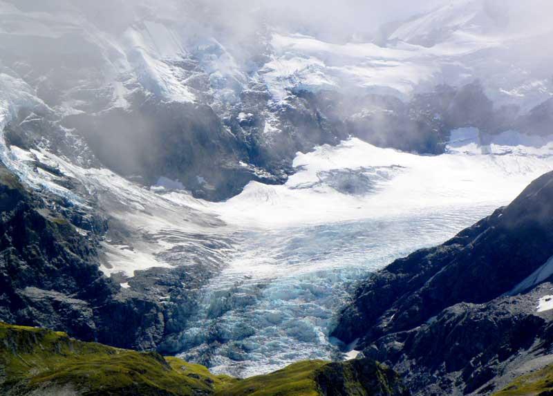 Ledovec u Mt. Aspiring Nový Zéland