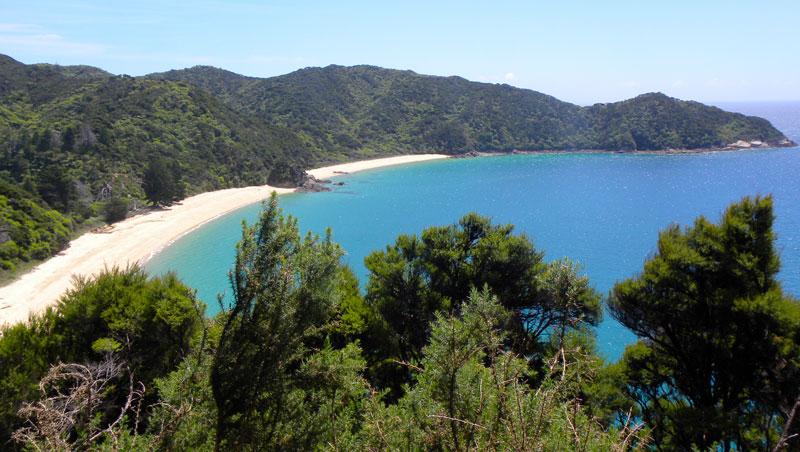 prázdné pláže Nový Zéland